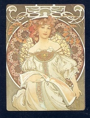 Alphonse Mucha 夢想 1897.(64.0×47.5cm).JPG